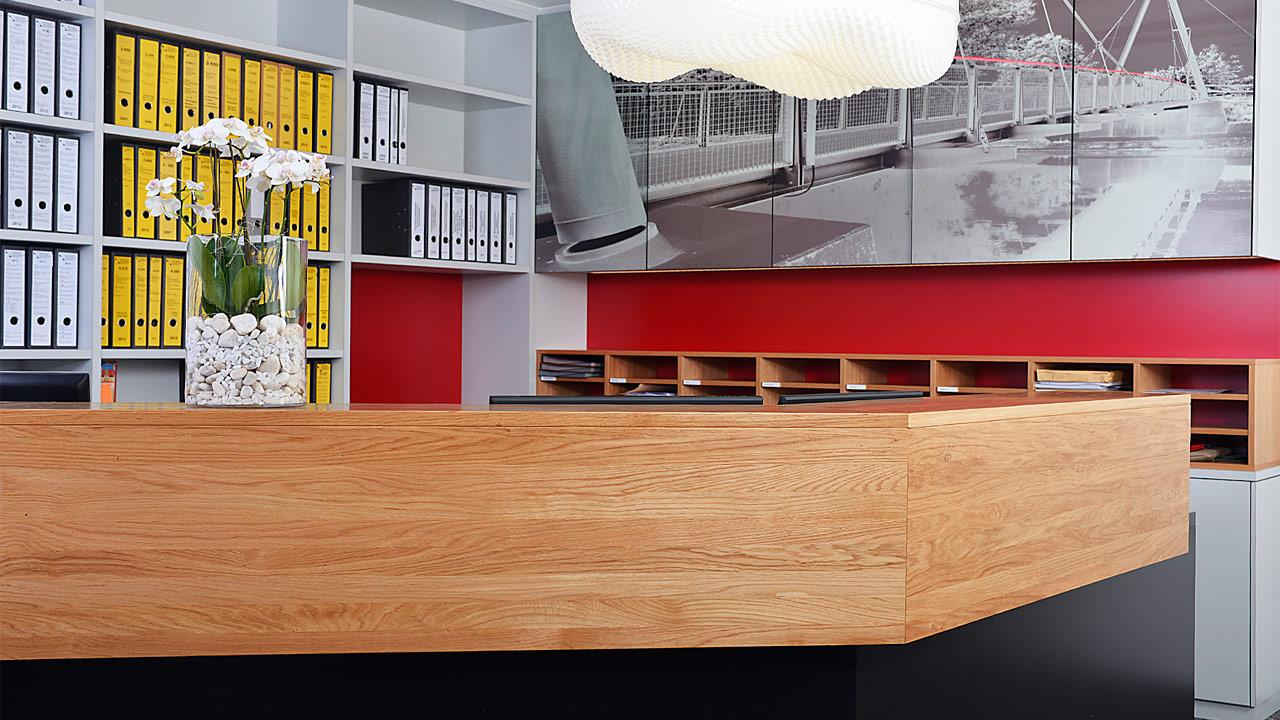 empfangstheke held schreinerei interior design freising. Black Bedroom Furniture Sets. Home Design Ideas