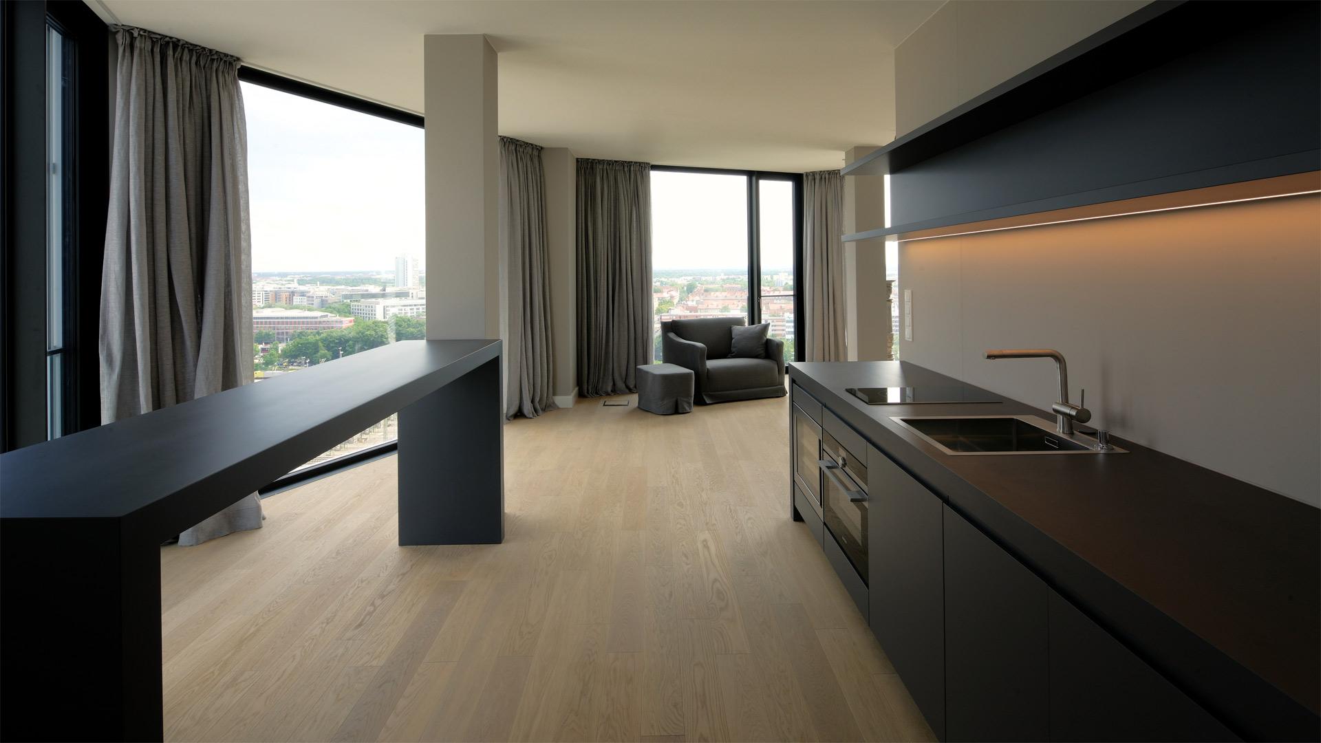 hochwertiger innenausbau. Black Bedroom Furniture Sets. Home Design Ideas